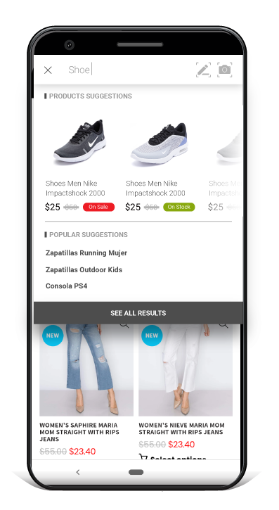Shopify Creative Search Bar and Filters app